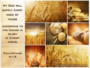 Philippians 4:19 My God Will Suppy All Your Need According To His Riches In Glory In Christ (windows)04:14