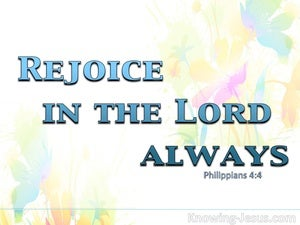 Philippians 4:4 Rejoice In The Lord Always (blue)