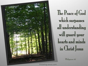 Philippians 4:7 The Peace Of God (gray)