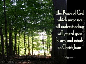 Philippians 4:7 TheThe Peace Of God (green)