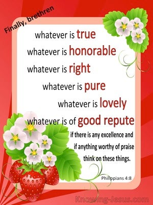 Philippians 4:8 Think On These Things (white)