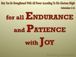 Colossians 1:11 Strengthened WIth All Power red