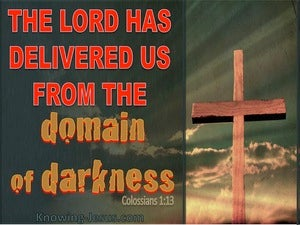 Colossians 1:13 The Lord Has Delivered Us red