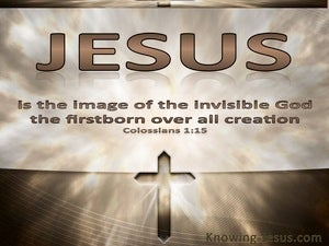 Colossians 1:15 Image Of The Invisible God (brown)