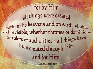 Colossians 1:16 For By Him All Things Were Created orange