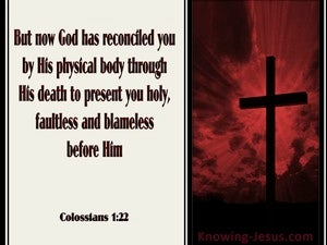 Colossians 1:22 God Has Reconciled You red
