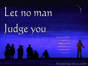 Colossians 2:16 Let No Man Judge You white