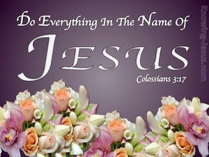 Colossians 3:17 All In The Name Of Jesus purple