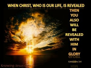 Colossians 3:4 Christ Who Is Our Life gold