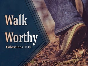 Colossians 1:10 Walk Worthy (navy)