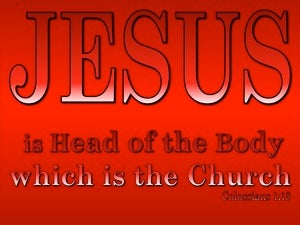 Colossians 1:18 Jesus Is The Head Of The Body (red)