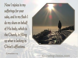 Colossians 1:24 Rejoice in Suffering (brown)