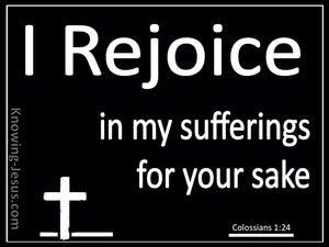 Colossians 1:24 Rejoice in Suffering (white)