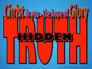 God's Hidden Truths (devotional) - Colossians 1-27