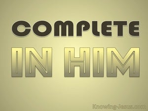 Complete in Him (devotional) (gold) - Colossians 2-10