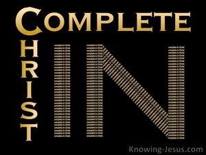 Colossians 2:10 Complete in Christ (black)