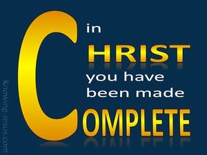 Colossians 2:10 Complete In Christ (gold)