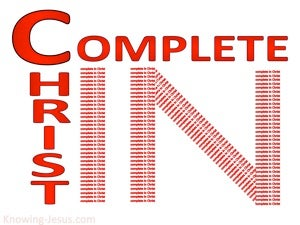 Colossians 2:10 Complete In Christ (red)