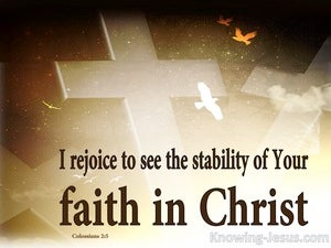Colossians 2:5 Stability OFf Your Faith In Christ (white)