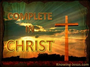 Complete in Christ (devotional) (aqua) - Colossians 2:9