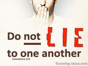 Colossians 3:9 Do Not Lie To One Another (red)