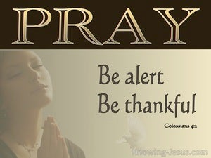 Colossians 4:2  Devote Yourselves To Prayer (gold)