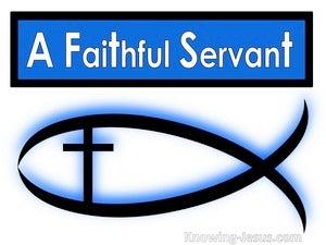 A Faithful Servant (devotional) (white) - Luke 19:17