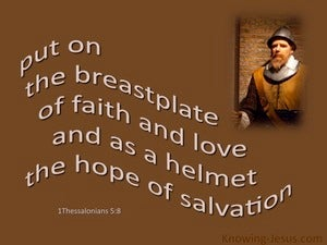 1 Thessalonians 5:8 Breastplate Of Faith (brown)