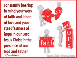 1 Thessalonians 1:3  Remembering Without Ceasing Your Faith Love And Hope (red)