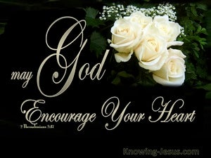 2 Thessalonians 2:17 May God Encourage Your Hearts (cream)