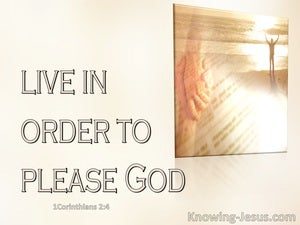 1 Thessalonians 4:1 Live In Order To Pease God (pink)