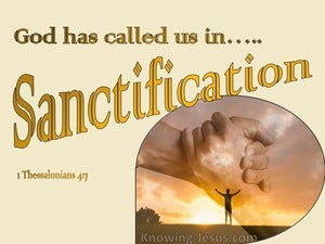 1 Thessalonians 4:7 God Has Not Called Us For The Purpose Of Impurity (yellow)