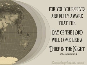 1 Thessalonians 5:2 The Day Of The Lord (brown)