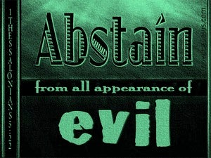 1 Thessalonians 5:22 Abstain From All Appearance Of Evil (green)