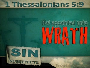 1 Thessalonians 5:9 God Has Not Destined Us For Wrath (red)