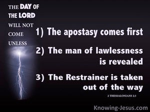 2 Thessalonians 2:3 The Day Of The Lord (black)