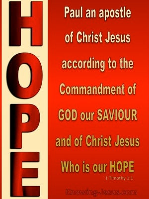 1 Timothy 1:1 Paul Apostle of Christ as Commanded By God (red)