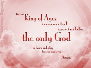 1 Timothy 1:17 King Of The Ages (pink)