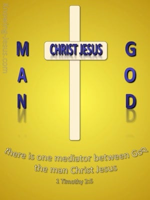 1 Timothy 2:5 One Mediator Between God And Men gold