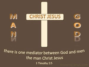 1 Timothy 2:5 One Mediator brown