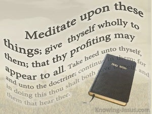 1 Timothy 4:15 Meditation Upon These Things beige