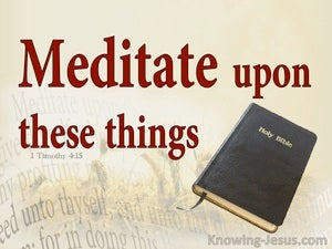1 Timothy 4:15 Meditation Upon These Things red