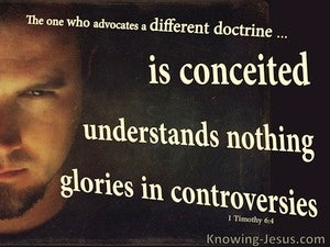 1 Timothy 6:4 The Wicked Are Conceited And Understand Nothing brown