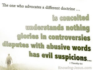 1 Timothy 6:4 The Wicked Are Conceited And Understand Nothing sage