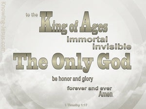 1 Timothy 1:17 King Of The Ages (gray)