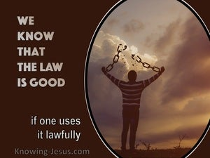 1 Timothy 1:8  We Know That The Law Is Good (brown)