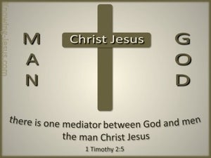 1 Timothy 2:5 One Mediator Between God And Men (gray)