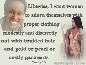 1 Timothy 2:9 Women Should Wear Modest Clothing (aqua)
