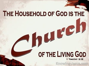 1 Timothy 3:15 The Household Of God Is The Church (red)