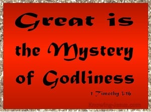 An Example of Godliness (devotional) (red) - 1 Timothy 3:16
